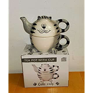 Atelier Harmony Tea for One Happycat 3D Teekanne mit Tasse 3teilig