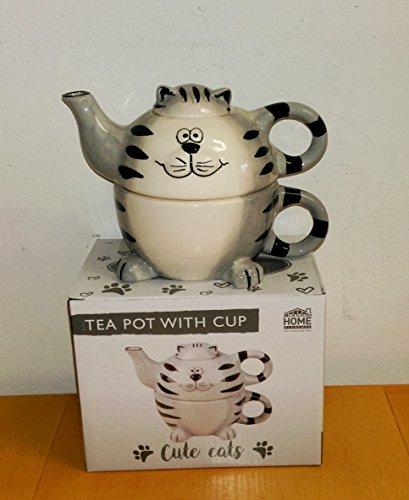 Atelier Harmony Tea for One Happycat 3D Teekanne mit Tasse 3teilig