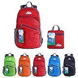 EGOGO multifunktionale haltbar stopfbare handlich leichte Reise Rucksack Daypack Schultasche Wandern Rucksack S2212 (Rot)
