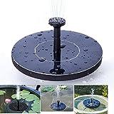 Topnma Solar Springbrunnen garten mit 1.4W Monokristalline Solar Panel Freie stehende Brunnen und pumpe für Gartenteich,Durchfluss 150L / H