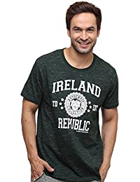 12d199e38fbb Irish Connexxion T-Shirt with Ireland Republic Ltd EDT Varsity Shield,  Forest Green Colour