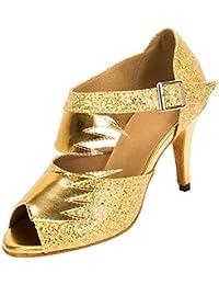 Meijili - plataforma mujer , color Dorado, talla 35.5
