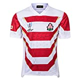 Herqw61 Unisex Rugby Maillot 2019 Coupe du Monde Australian Japan New Zealand South Africa Home and Away Survêtements Football T-Shirt(3XL Japan-Blanc)