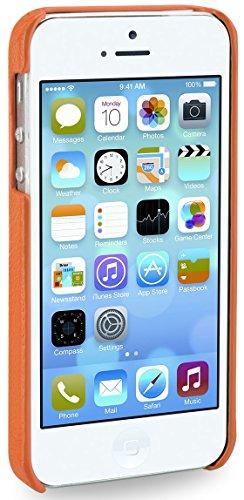 StilGut Schutzhülle aus Leder für iPhone 5 Orange - Orange