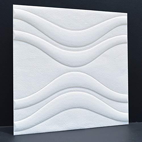 Schaum Wandaufkleber XPE Anti-Kollision wasserdicht selbstklebende Tapete 3d Stereo Tapete Wand Wandaufkleber TV Hintergrund milchig weiß 60 * 60CM