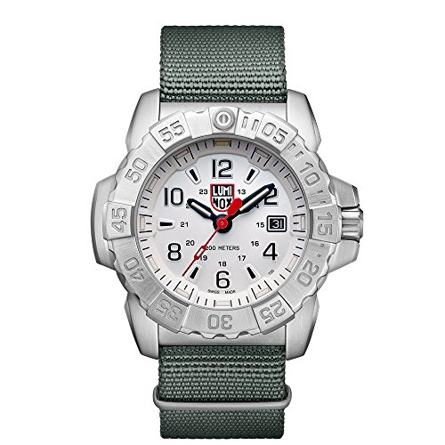 Luminox Mens Quartz Watch, Analogue Classic Display and Nylon Strap XS.3257