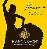 Hannabach 827Serie Flamenco Guitarra Cuerdas Super graves de baja tensión-con trenzado de cuerdas redondo hilo de plata con desgaste de protección-fabricado en Alemania -