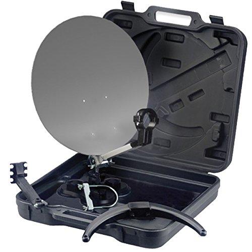 PremiumX PX35 Campingkoffer Mobile Digital HD Sat Anlage im Transport-Koffer mit zahlreichem Zubehör - OHNE LNB