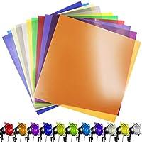 11 Piezas cuadradas de Filtro de Gel Corrector de luz de Filtro superposiciones Transparente láminas de plástico, 30 x 30 cm, 11 Colores