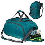 Coreal Unisex Reise Rucksack Gym Sporttasche mit Schuhfach Cyan