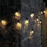 4,5m Außen/Innen Party Lichterkette, 10 LEDs warmweiß, batteriebetrieben, von Festive Lights