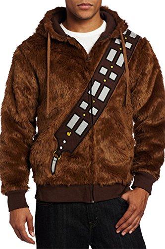 FUMAN Star Wars Chewbacca Hoodie - Kostüm Hoodie Wars Star