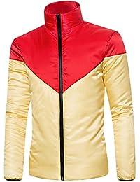 JYJM Herren Langärmelige Baumwollkleidung Mantel Jacke Männer Zwei Farben  Baumwoll Jacke Herren Herbst und Winter Winddichte 79646739cf