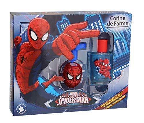 Corine de Farme Koffer Spiderman Eau de Toilette + Kreisel Lichterkette 50ml