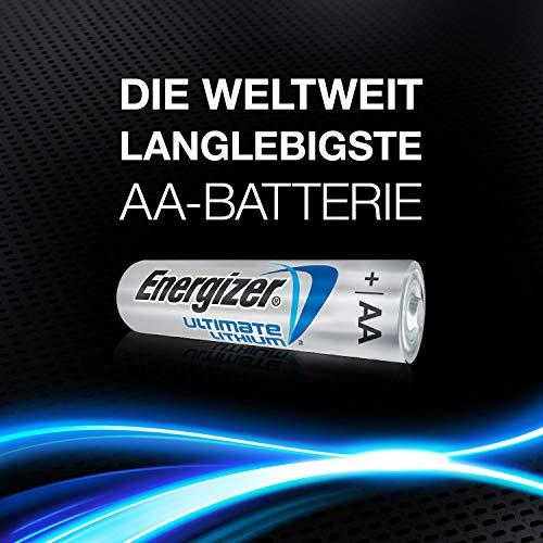 Energizer Batterien AA, Ultimate Lithium, 4 Stück