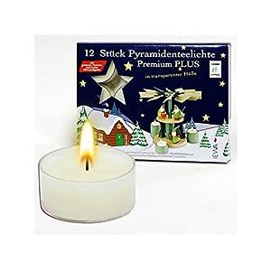 Dekohelden24 Set Pyramiden-Teelichte mit Transparenter Tülle