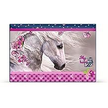 Pferd Pony Einhorn SCHREIBTISCHUNTERLAGE SCHREIBUNTERLAGE TISCHUNTERLAGE UNTERLAGE + Sticker von kids4shop