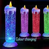 Decorative Buckets:VALENTINE DAY GIFTS Diwali Lights For Decoration Of Home:BIG COLOR CHANGING LED GLITTER CANDLE FOR DECORATIONS WITH FREE USB CABLE CHARGER: BATTERY OPERATED LIGHT :candles For Decoration Love : Diwali Lights : Diwali Decorations: Diwali