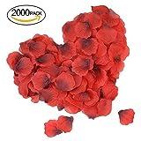 2000 Piezas Pétalos de Rosa, DigHealth Petalos de Rosa Naturales, Petalos de Rosa para Bodas Decoración Fiestas Confeti, Petalos Artificiales
