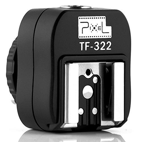 Pixel Tf-322 Flash Hot Shoe Sync Adapter with Extra Pc Sync Port Dedicated for Nikon Dslr & Flashgun Camera Accessories Nikon Hot Shoe (Hot-shoe-sync-adapter)