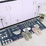 Leebei Küchenmatten Anti-Rutsch Waschbar Flanell Fußmatte Innenbereich Teppiche Küchenteppich Küchenläufer Matte (Küche, 15,7×23,6 Zoll + 15,7×47,2 Zoll) - 4