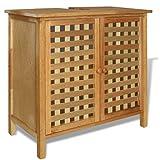 Festnight Waschbeckenunterschrank Waschbeckenschrank aus massivem Holz Waschtisch Untershrank 66 x 29 x 61 cm