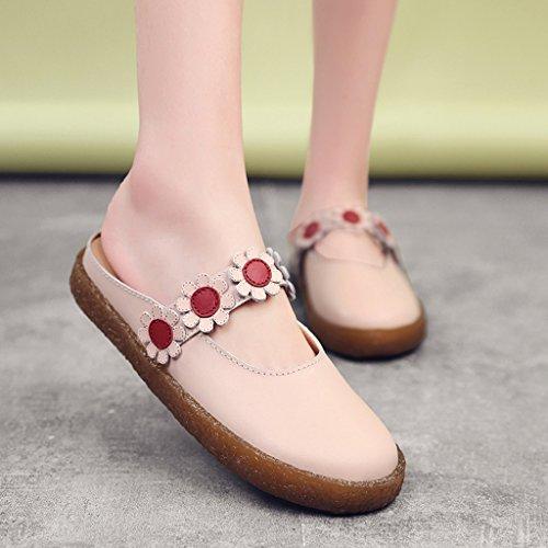 Version coréenne de chaussures chaussures plates simples chaussures multicolores, rose 37