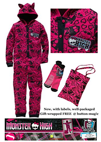 monster-high-onesie-girls-sleepover-kit-set-includes-a-hooded-onesie-all-in-one-pyjamas-a-matching-n