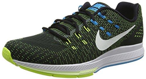 Nike Air Zoom Structure 19, Chaussures de Running Homme, Taille Noir (Black/Pure Platinum/Volt/Blue Lagoon)
