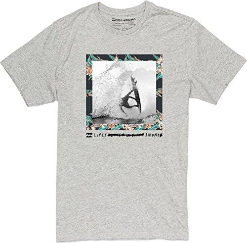 Herren T-Shirt Billabong Life S Short T-Shirt Grey Heather