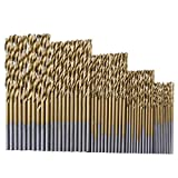 SUNMUCH 50 PC Spiralbohrer Spiralbohrer-Werkzeug-Set Metric System-Bohrer Holzbearbeitung