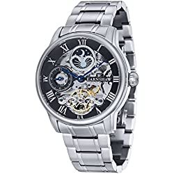 Thomas Earnshaw Men's ES-8006-11 Automatic Watch with Black Dial Analogue Display and Silver Stainless Steel Bracelet