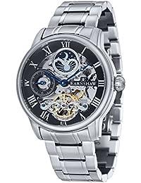 Reloj Longitude para hombre de la marca Thomas Earnshaw con esfera analógica de color negro y brazalete de acero inoxidable – ES-8006-11