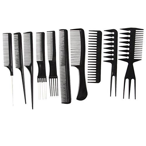 Sodial(r) kit 10 pettini pettine professionale per parrucchiere