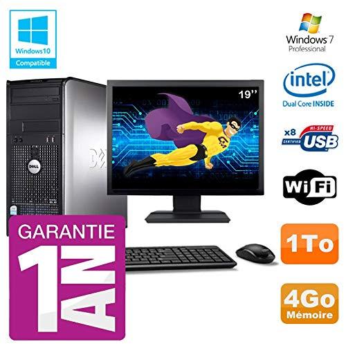 Dell PC 780 Desktop-Bildschirm 19 Zoll Intel E5800 RAM 4 GB Festplatte 1 TB DVD-Brenner WiFi W7 (780-desktop Dell)