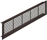 Lüftungsgitter rechteckig Belüftungsblech Aluminium Dunkel-Bronze Stegblech Möbel und Tür-Gitter oval | Modell H6003 Länge 500 mm | Breite 86 mm | MADE IN GERMANY | Möbelbeschläge von GedoTec®