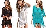 Live It Style It femmes creux maillot de bain bikini crochet sexy tricoté robe de plage vêtement de plage haut