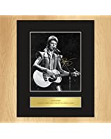 David Bowie Signed Mounted Photo Display