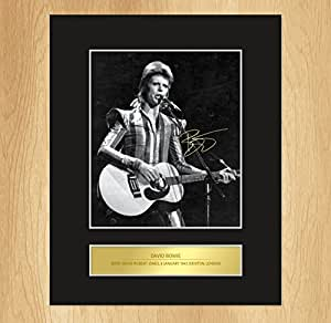 David Bowie Signed Mounted Photo Display by My Prints