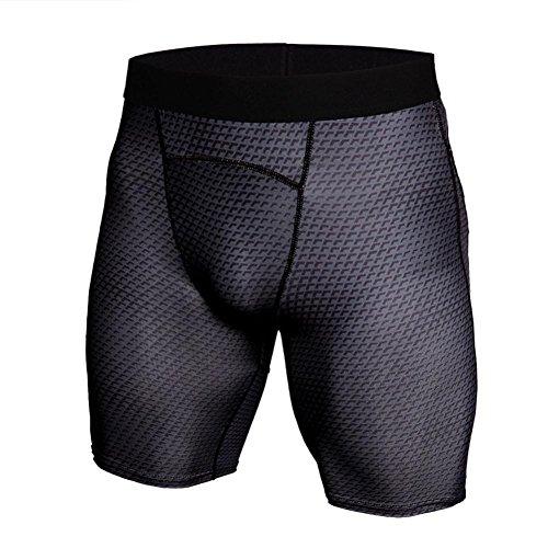 GreatestPAK Herren Snake Skin Gedruckt Atmungsaktiv Schnell trocknend Sport Shorts Gym Kurze Hosen Workout Fitness Sport Shorts,Dunkelgrau,XL