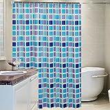 Gitter duschvorhänge, Bath vorhang Gepolsterte Wasserdicht und mehltau Tuch Punch-free Toilette Wand vorhänge Duschvorhänge für zuhause-G 200x240cm(79x94inch)