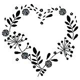 Aladine - Tampon Mariage - Support En bois - Réalisation de Faire Part de Mariage - Scrapbooking et Carterie Créative - Grand Format - Motif Coeur Champêtre