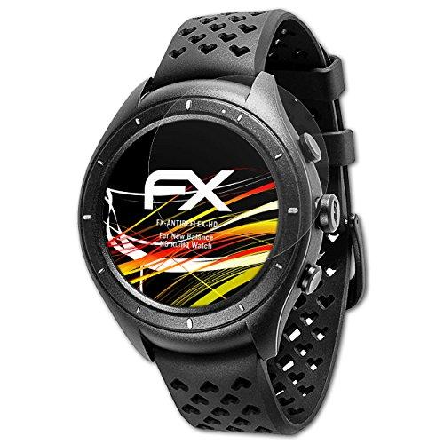 atFoliX Schutzfolie kompatibel mit New Balance NB RunIQ Watch Displayschutzfolie, HD-Entspiegelung FX Folie (3X)