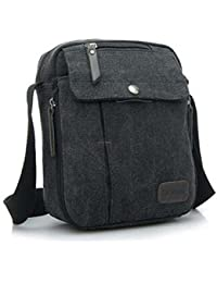 ELECTROPRIME Outdoor Travel Military Satchel Shoulder Messenger Canvas Bag Black