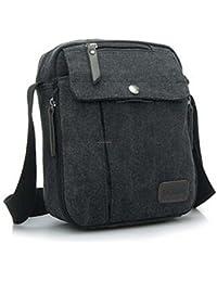 ELECTROPRIME Outdoor Travel Military Satchel Shoulder Messenger Canvas Bag Black