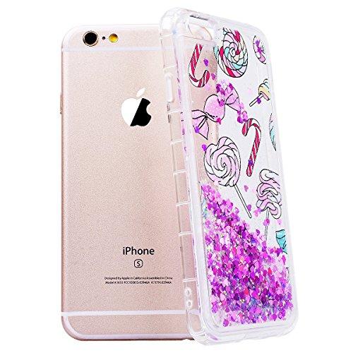 GrandEver iPhone 6/iPhone 6S(4.7 Zoll) Glitzer Hülle Weiche Silikon Handyhülle Liquid Fließen Flüssigkeit Gel Bling TPU Bumper Schutzhülle für iPhone 6/iPhone 6S(4.7 Zoll) Rückschale Klar Handytasche  Candy