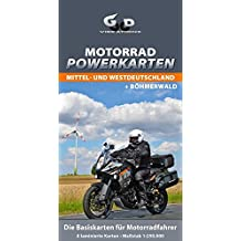 Motorrad Powerkarten Mittel- und Westdeutschland + Böhmerwald