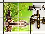 Fliesenfolie selbstklebend 20x20 cm 2x2 Design Buddha Zen (Erholung) Klebefolie Küche Bad