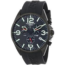 Torgoen Swiss Herren T16302 Aviation Chronograph Carbon Fiber Polyurethan Armbanduhr