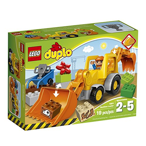 LEGO DUPLO Town 10811 Backhoe Loader Building Kit (19 Piece) by LEGO